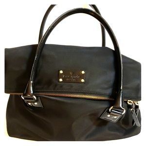 Kate Spade black nylon Carmen handbag